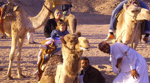 Camel riding activity in Sharm