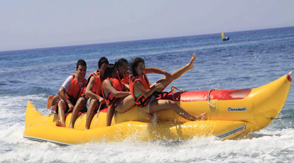 Waters ports banana boat ride