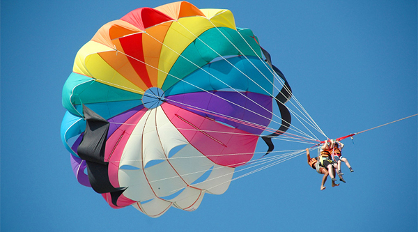 Parasailing over Naama bay, Sharm el Sheikh
