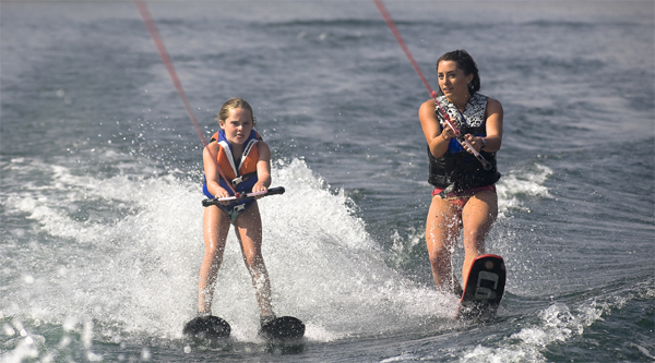 Practice water skiing in Sharm-el-Maya