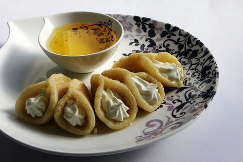 Atayef with cream