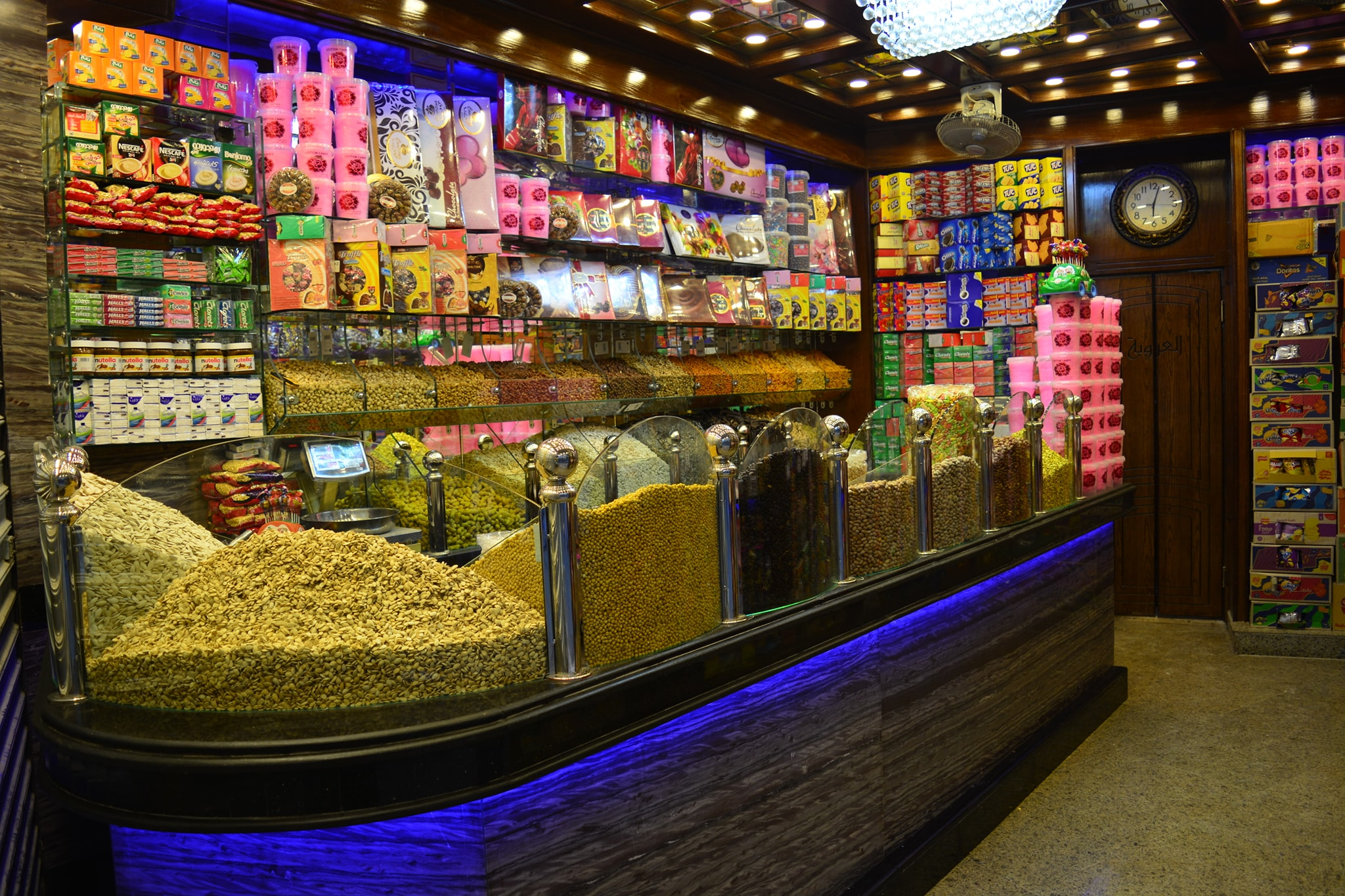 Nuts, Dried Fruits shops street food in Egypt