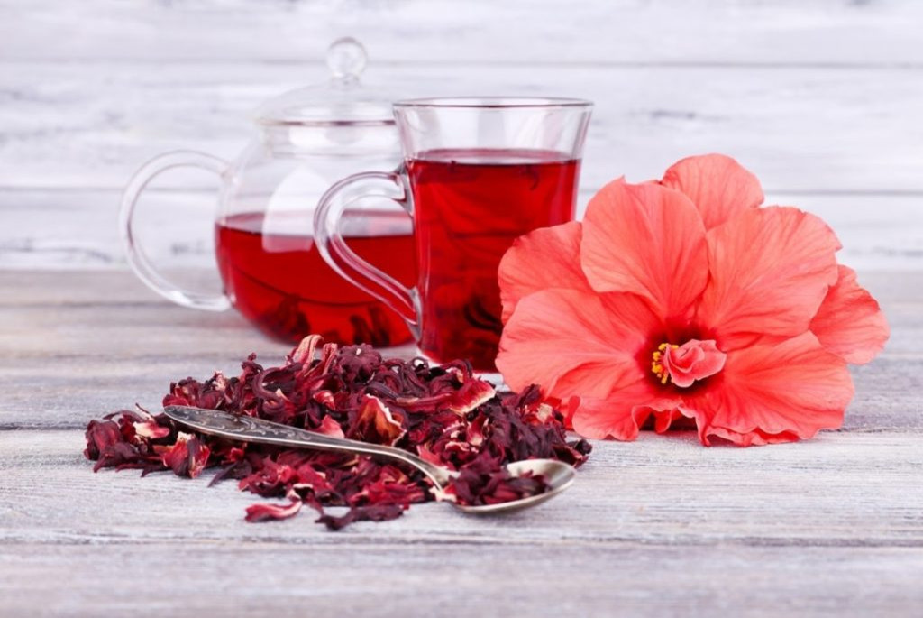 Karkade red hibiscus drink