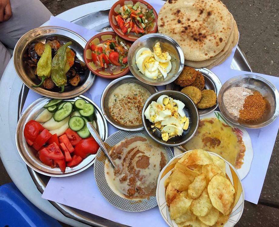 Egyptian traditional breakfast