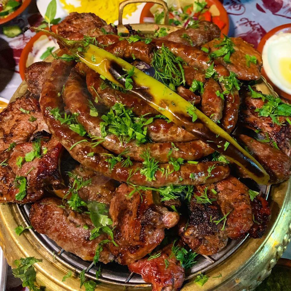 Plate of Egyptian mixed grill