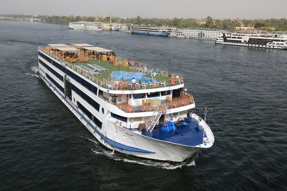 Blue Shadow Nile cruise ship at Kom Omboh