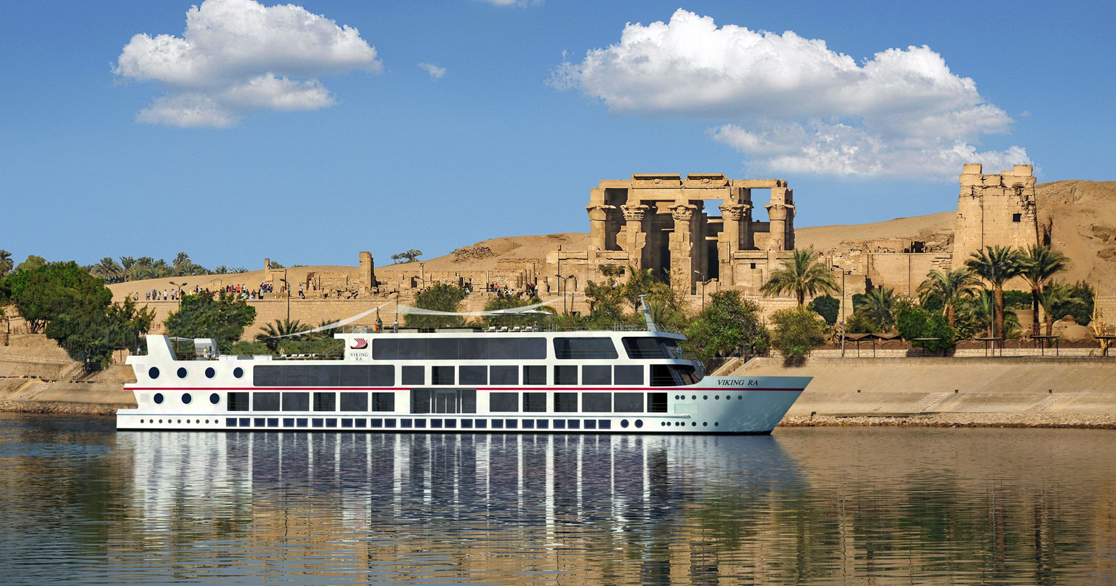 Nile cruise Deluxe ship in Kom Ombo