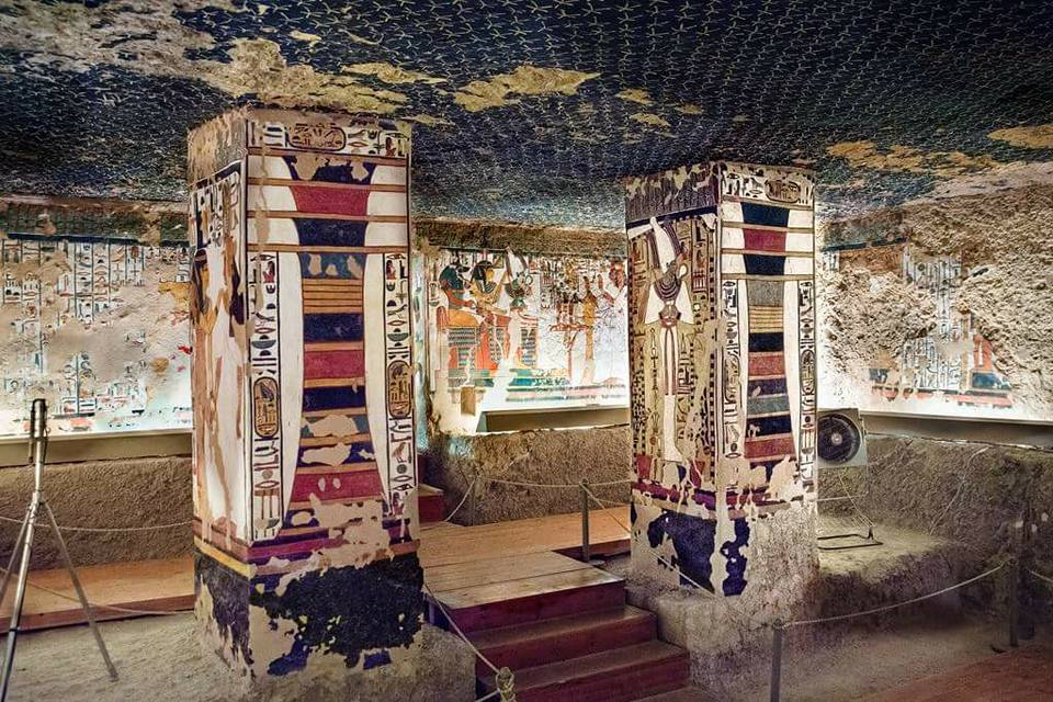 Inside of Nefertari tomb