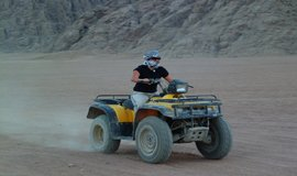 Quad biking safari trip