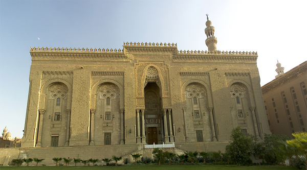 Al-Rifai mosque central entrance