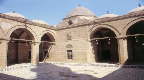 Inner courtyard of Solyman Pasha mosque in the Citadel