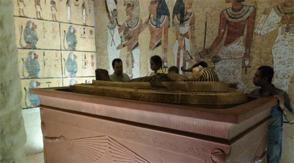 At the room of king Tut's tomb.