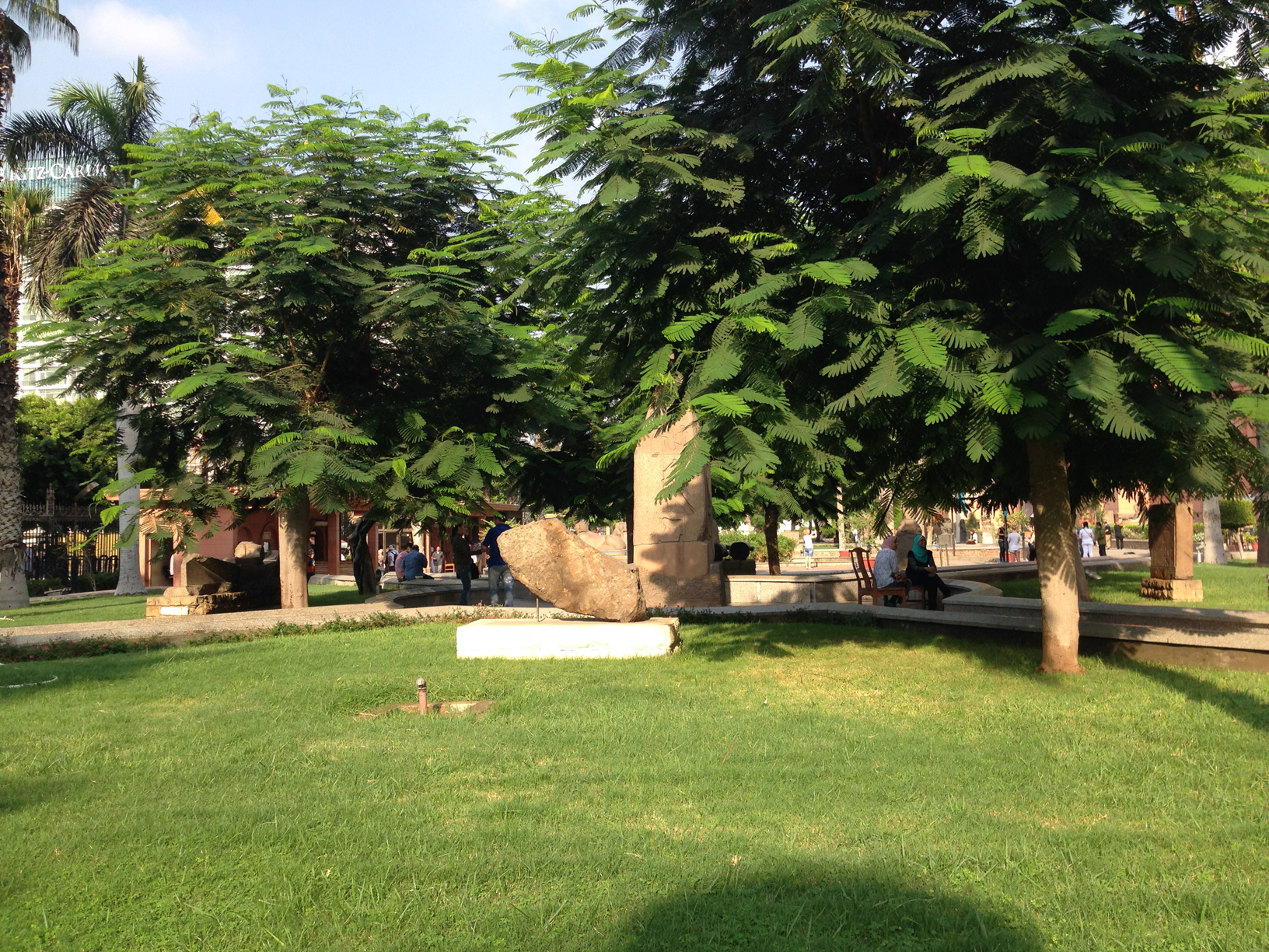 In the garden of the Egyptian museum