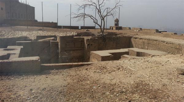 Раскопки дворца аль-Аблак