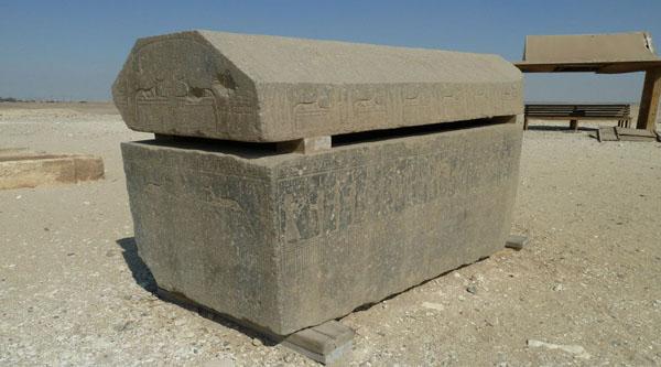 Sarcophagus found near the pyramid