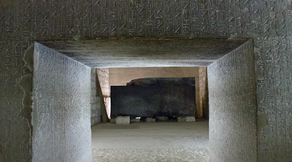 Inside Teti pyramid