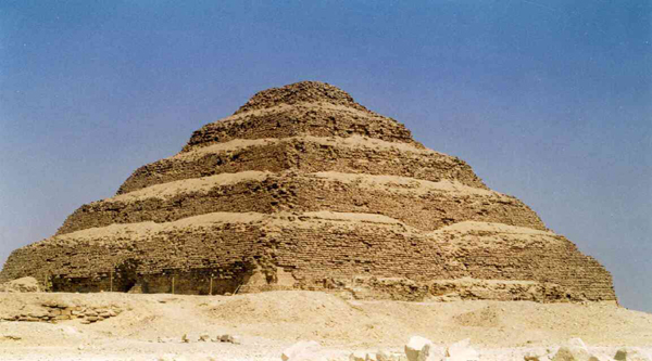 Saqqara Step Pyramid in the past