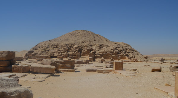 Side view of Unas pyramid