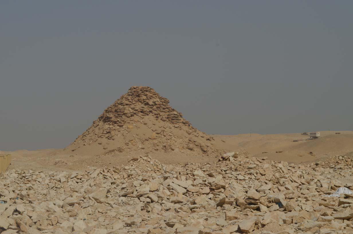 Userkaf pyramid in Saqqara