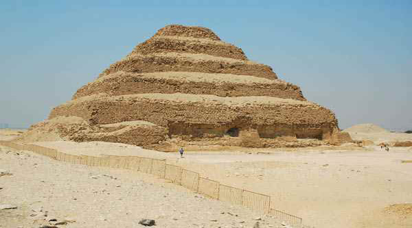 Pyramid of Djoser general view.
