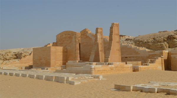 Funerary temple at the Step Pyramid of Djoser.