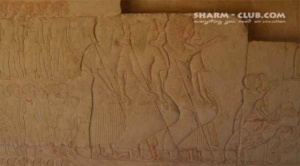 Horemheb tomb in Saqqara necropolis.