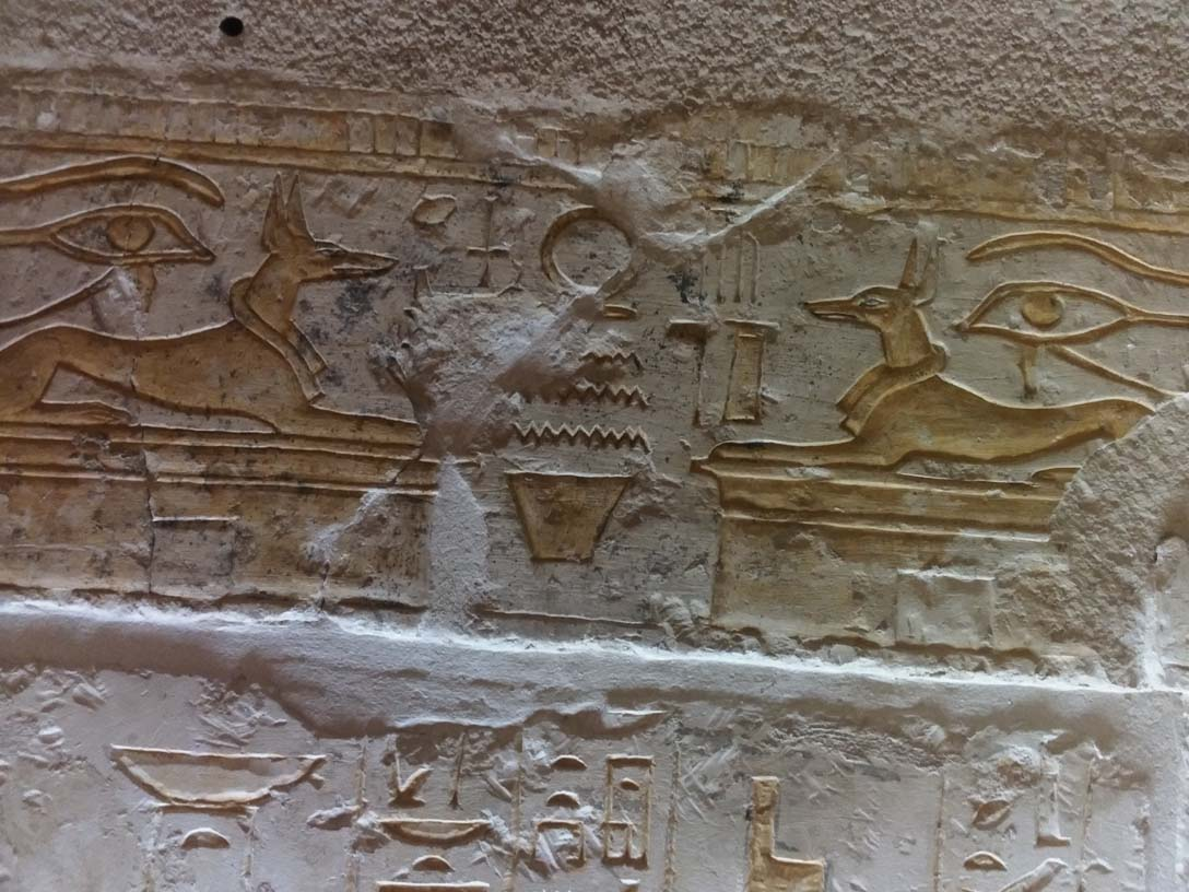 Enemies of Egypt depicted on the wall of Horemheb's tomb.