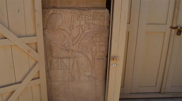 Relief at the entrance to the tomb.