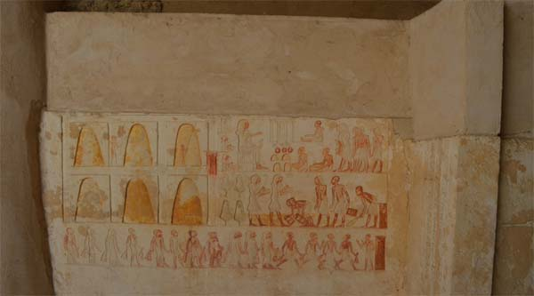 Decoration of the tomb.