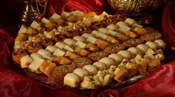 Variety of Oriental sweets